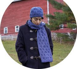 Twist Collective Printed Pattern Fillster Hat and Scarf in Botanica