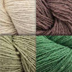 Gemstone Silk Noil Yarn