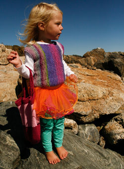 Side to Side Pullover for Girls by Knitting Pure and Simple