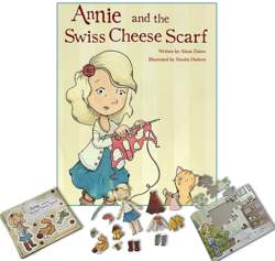 Annie and the Swiss Cheese Scarf - Deluxe Gift Set