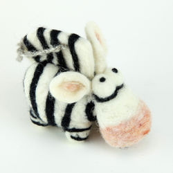 Zebra Needle Felting Kit - Woolbuddy