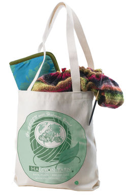 Halcyon Yarn Eco Tote Green Bag