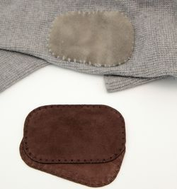 Suede leather Elbow Patch - Chocolate brown