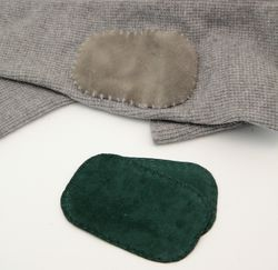 Suede leather Elbow Patch - Forest