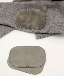 Suede leather Elbow Patch - Grey