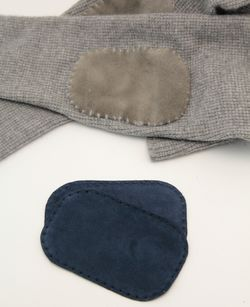 Suede leather Elbow Patch - Navy