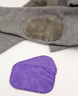 Suede leather Elbow Patch - Purple