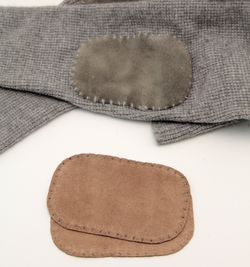 Suede leather Elbow Patch - Tan