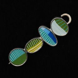 Wheat Grass Bubbles Shawl Pin by Bonnie Bishoff Designs