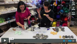felted soap stones, how to video