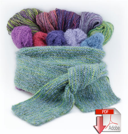 Sensations Rainbow Boucle Yarn Free Crochet Patterns : CROCHET SCARF PATTERNS BOUCLE YARN Crochet Patterns Only