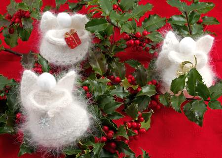 Angora Snow Angels - Angora Medium Weight