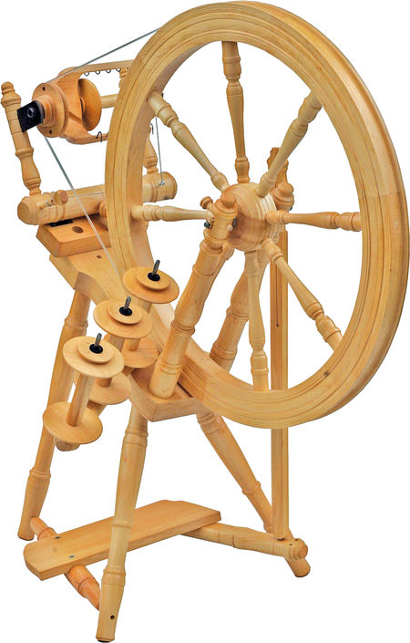Kromski Interlude Spinning Wheel, Clear