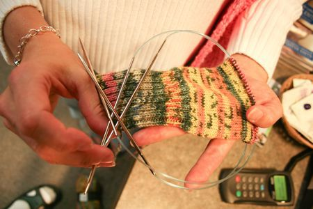 Socks--on--Two--Circular--Needles