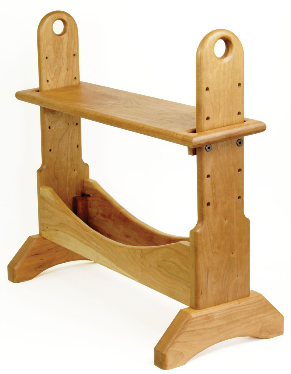 Weaving+Bench Maine Made Cherry Weaving Loom Bench - adjustable height ...