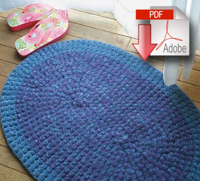 Crochet Rug - Halcyon Classic Rug Wool  - Pattern download