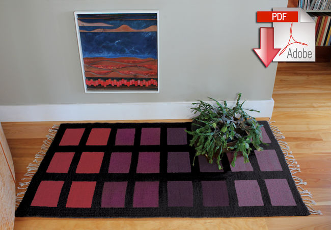 Desert Squares Block Weave Rug - Halcyon Classic Rug Wool - Pattern download