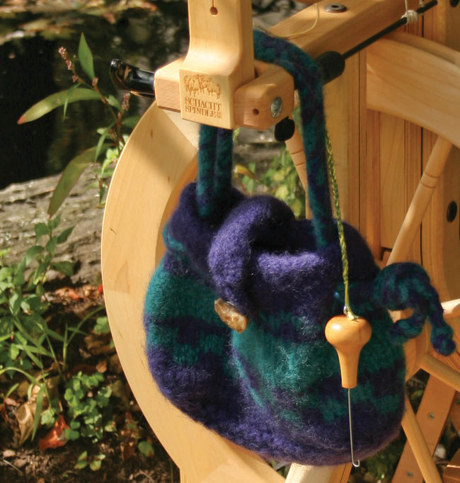 Spinning or Project Bag - Halcyon Classic Rug Wool -