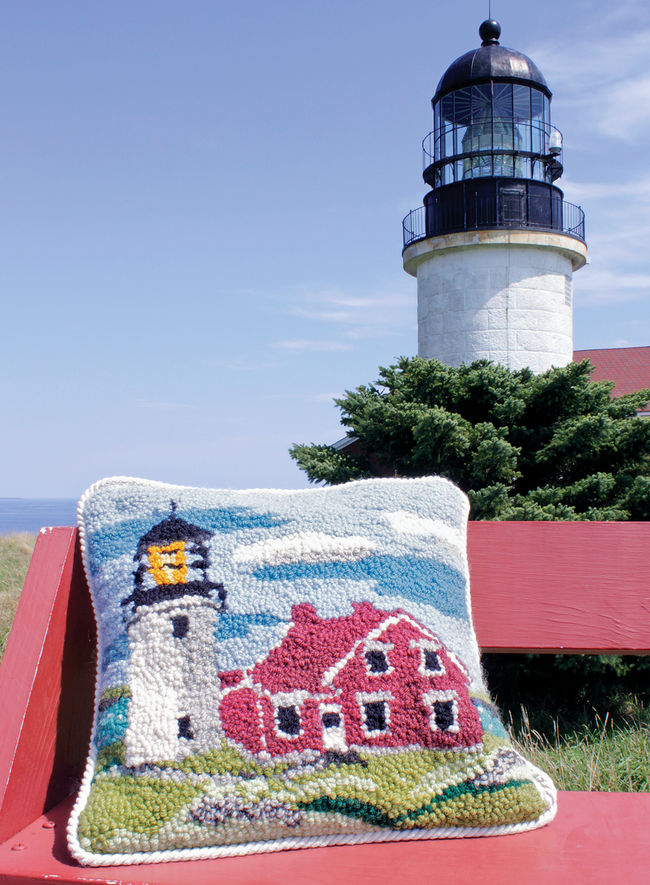 Seguin Lighthouse Focal Point Rug Hooking Kit