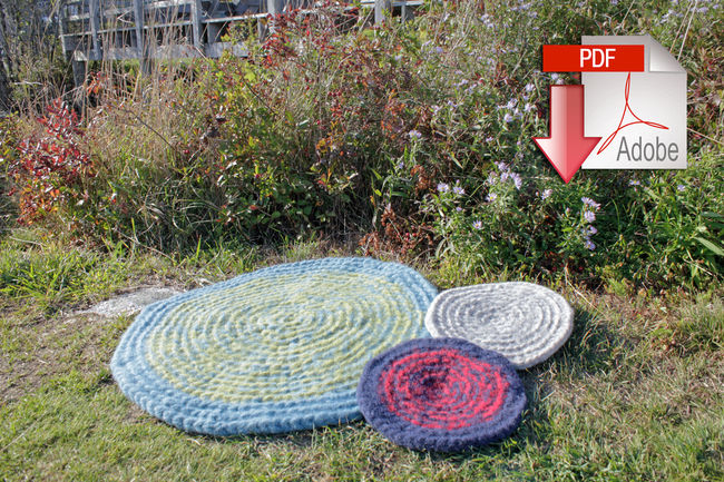 Water's Edge Felted Crochet Rug - Seguin  Collection - Halcyon Classic Rug Wool - Pattern download