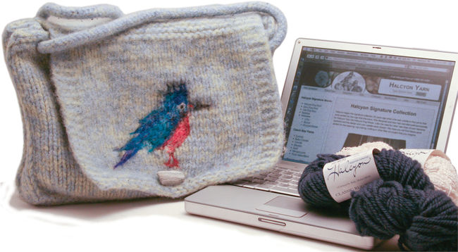 Kingfisher Messenger Bag - Deco Rug Wool and Victorian 2 Ply
