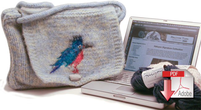 Kingfisher Messenger Bag - Deco Rug Wool and Victorian 2 Ply - Pattern download