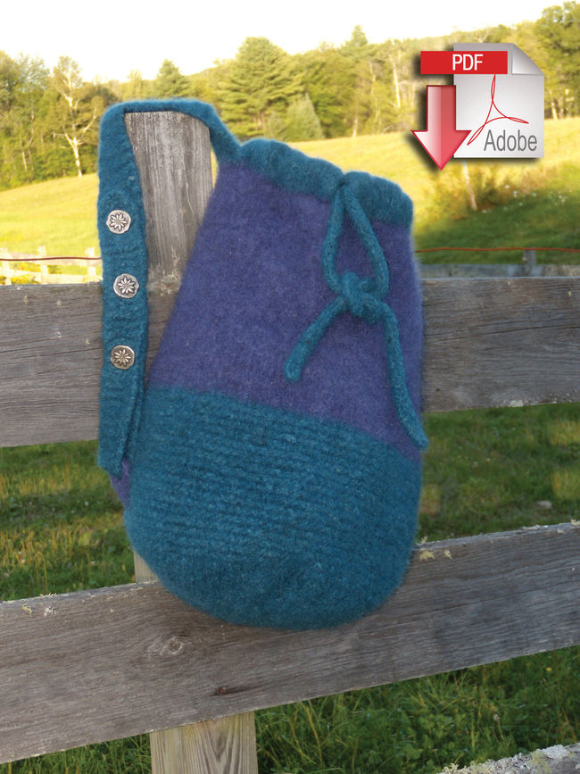 Penobscot Bay Felted Bag - Geo Rug Wool - Pattern download