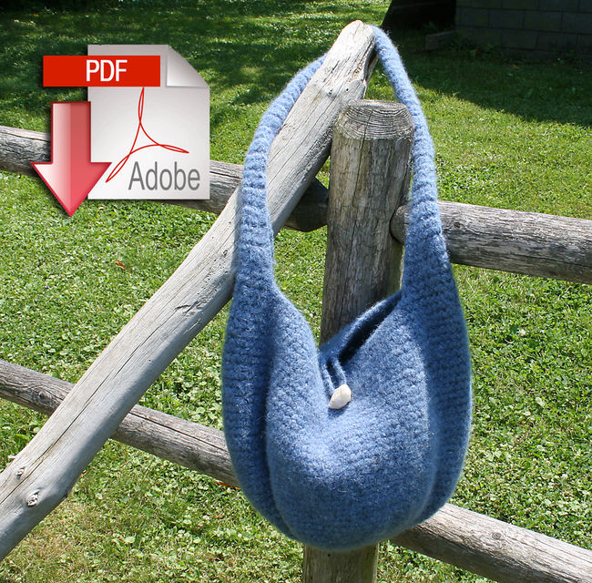 Crochet Felted Satchel - Geo Rug Wool - Pattern download