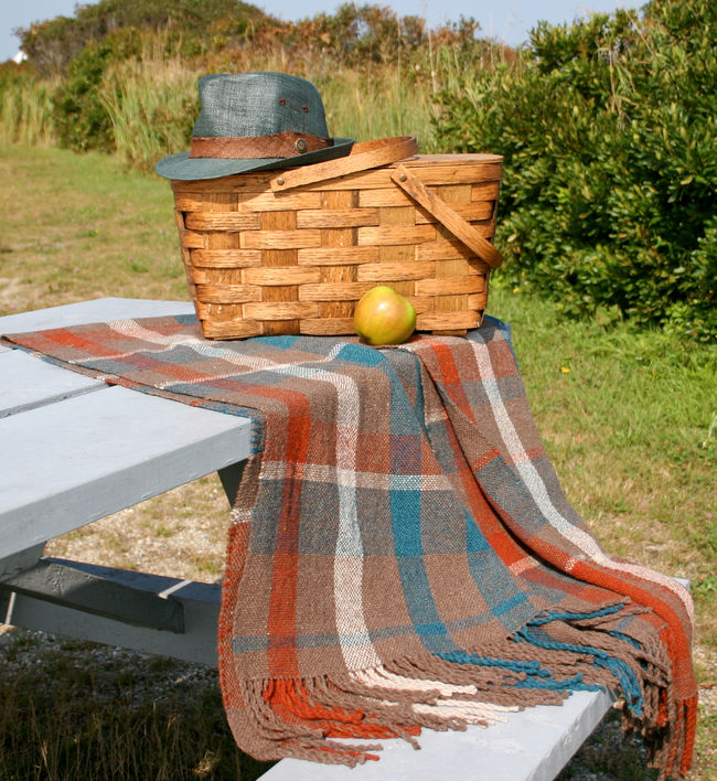 Fall Picnic Blanket - Harrisville Shetland