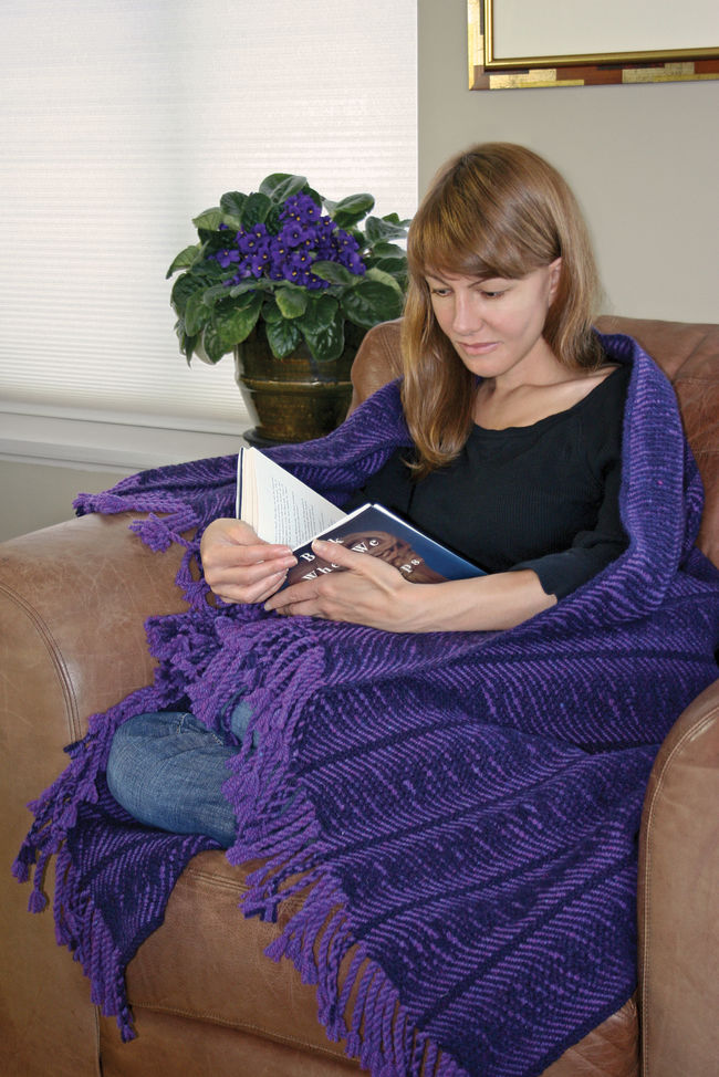 Undulating Waves Woven Blanket - Harrisville 2-Ply