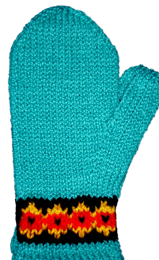 Two-Way Botanica Mitten Pattern