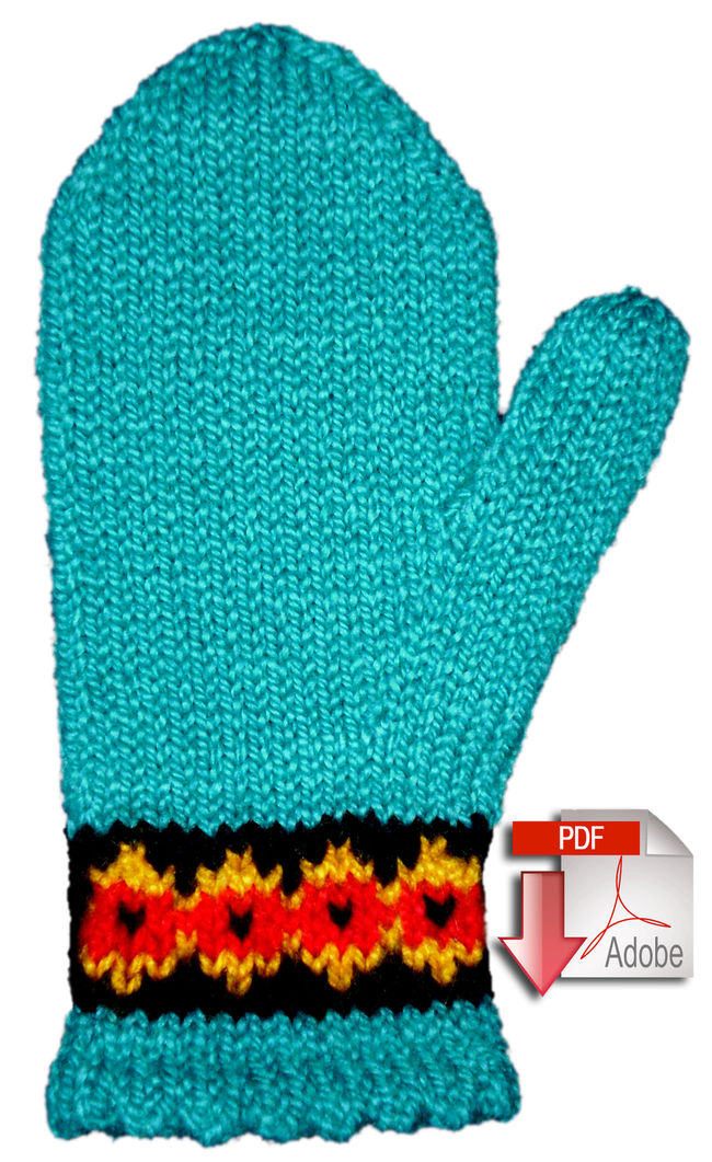 Two-Way Botanica Mitten Pattern - Pattern download