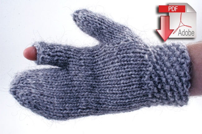 Guard's Gauntlet - Bulky weight wool - Pattern download