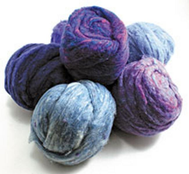 Peace Fleece Batting Bundles Purples
