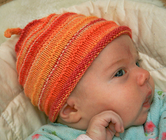 Knitting Patterns Using Baby Yarn : Babys First Hat - Fingering Weight, Knitting Pattern - Halcyon Yarn
