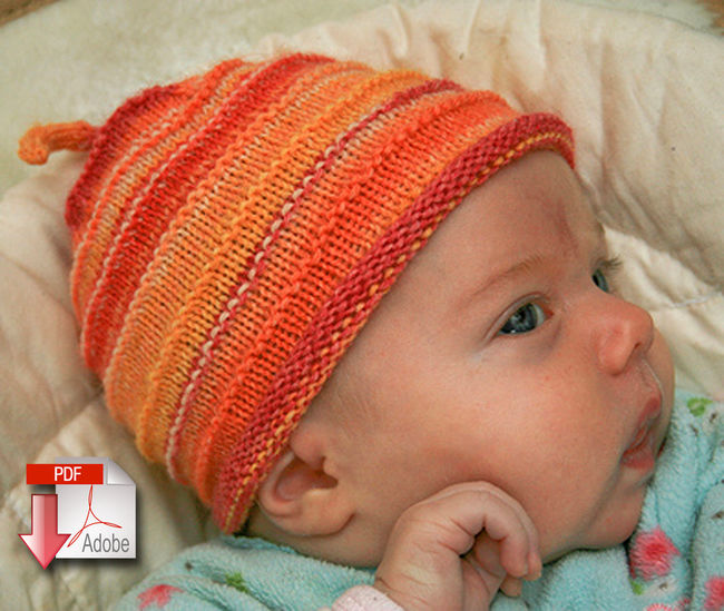 Knitting Patterns For Baby Yarn : Babys First Hat - Fingering Weight - Pattern download, Knitting Pattern ...