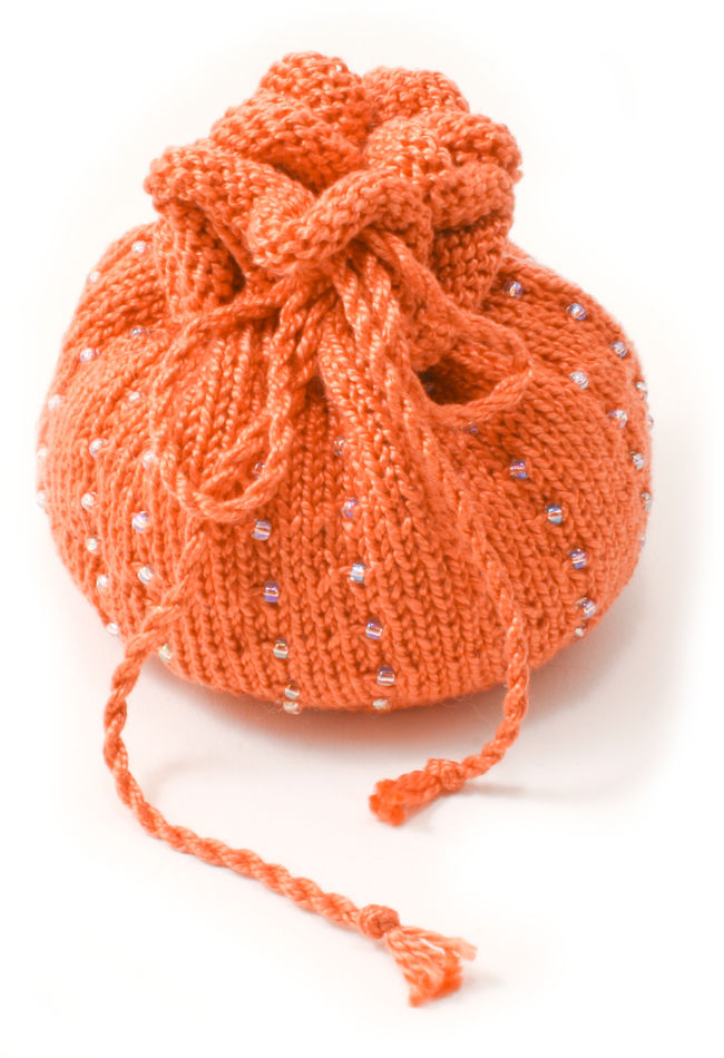 Autumn  Beaded Bag Kit - Pumpkin
