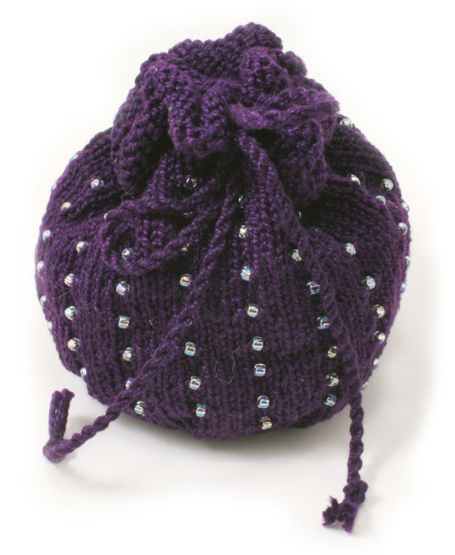 Autumn  Beaded Bag Kit - Deep Purple