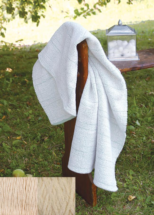 Casco Bay Chenille Bath Sheet Kit (Natural)