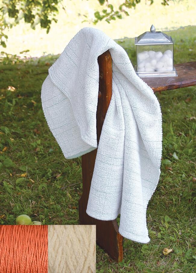 Casco Bay Chenille Bath Sheet Kit (Terra Cotta)