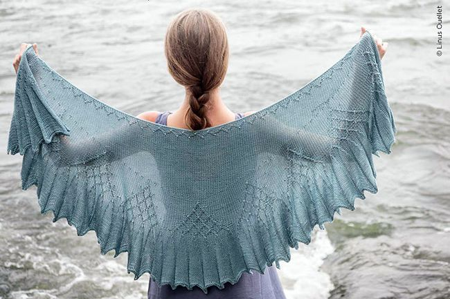 Isen Shawl from Twist Collective in Gemstone Silk 2/5