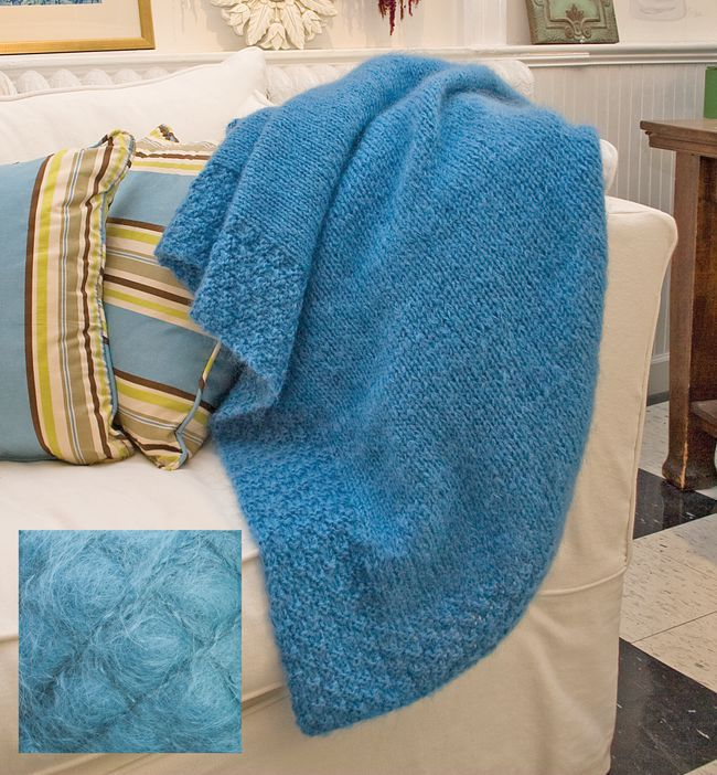 Blue Victorian Luxury Throw Kit