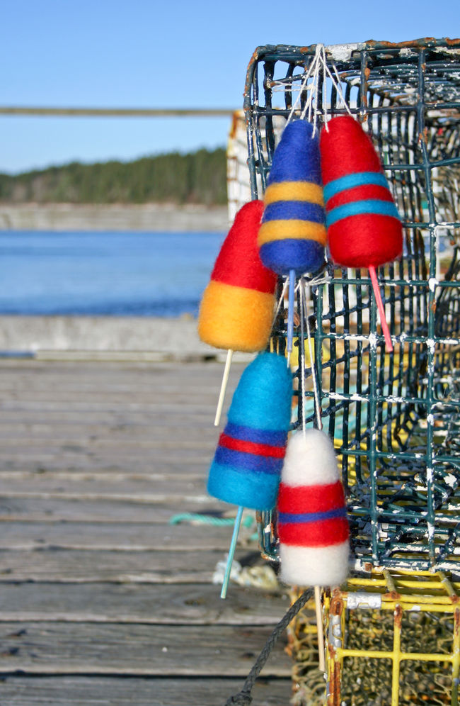 Lobster Buoy Ornament Kit