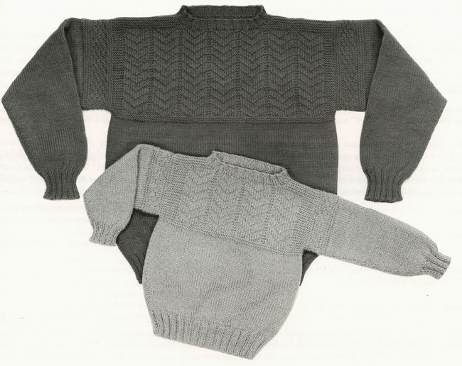Knitting Patterns For Guernsey Sweaters : Guilford Guernsey - Yankee Knitter, Knitting Pattern - Halcyon Yarn