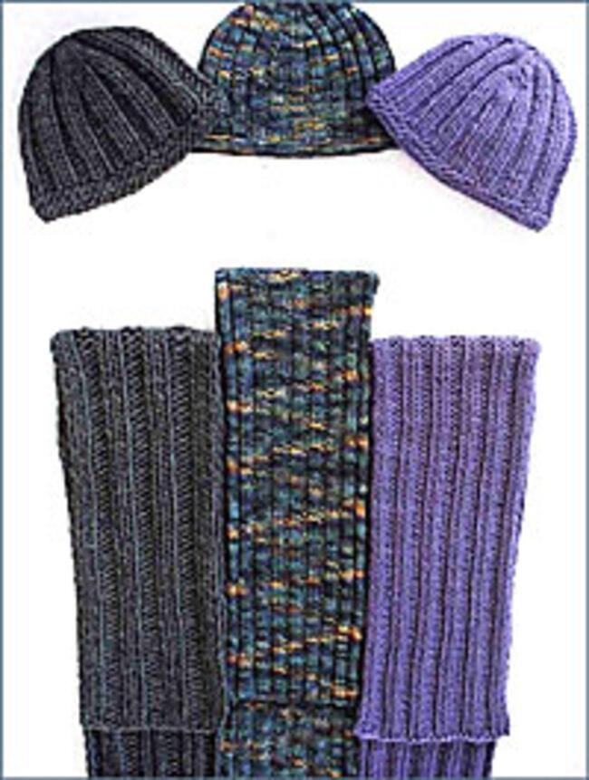 Free Knitting Pattern For Cushion Cover : Everyones Favorite Hat and Scarf, Knitting Pattern - Halcyon Yarn