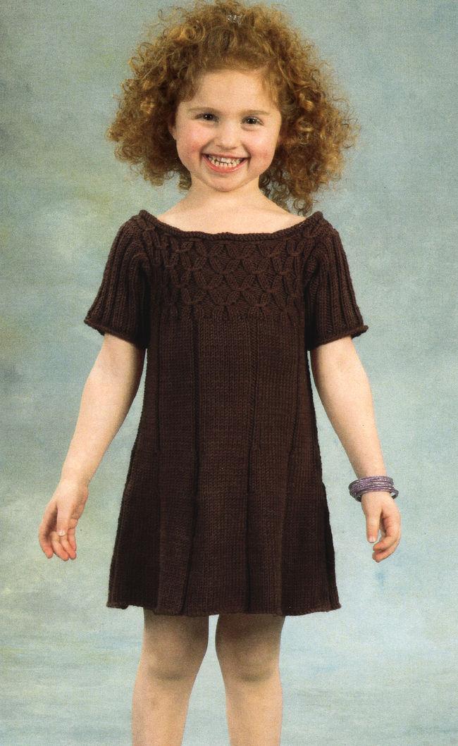 Girls Smock Dress, Knitting Pattern - Halcyon Yarn