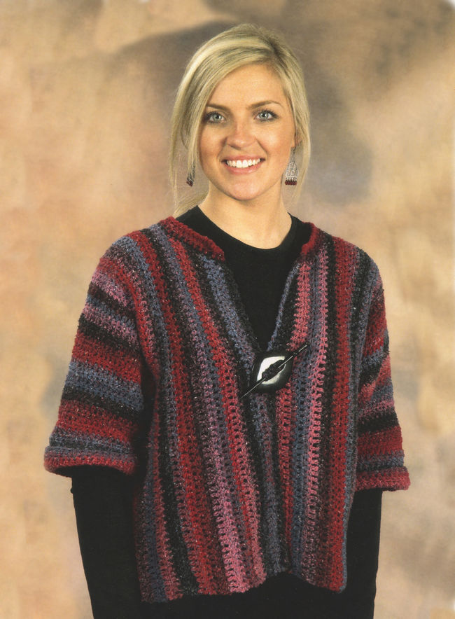 Crochet Side to Side Jacket, Knitting Pattern - Halcyon Yarn