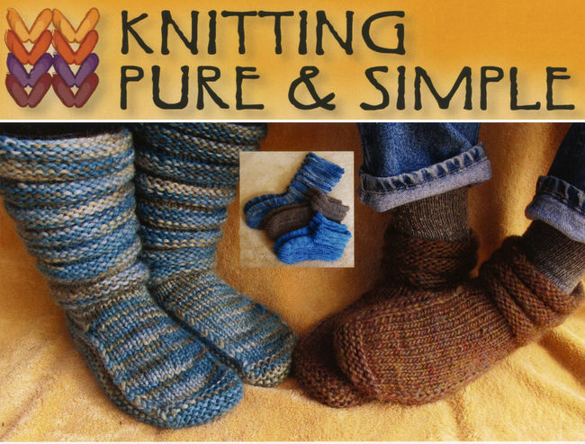 Adult Mukluk Slippers By Knitting Pure and Simple, Knitting Pattern - Halcyon...