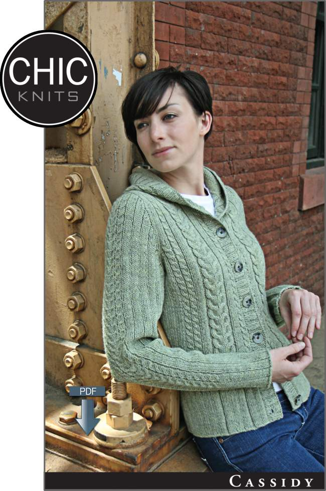a31968a7eb3129 Chic Knits Cassidy Hooded Cardigan - Pattern download