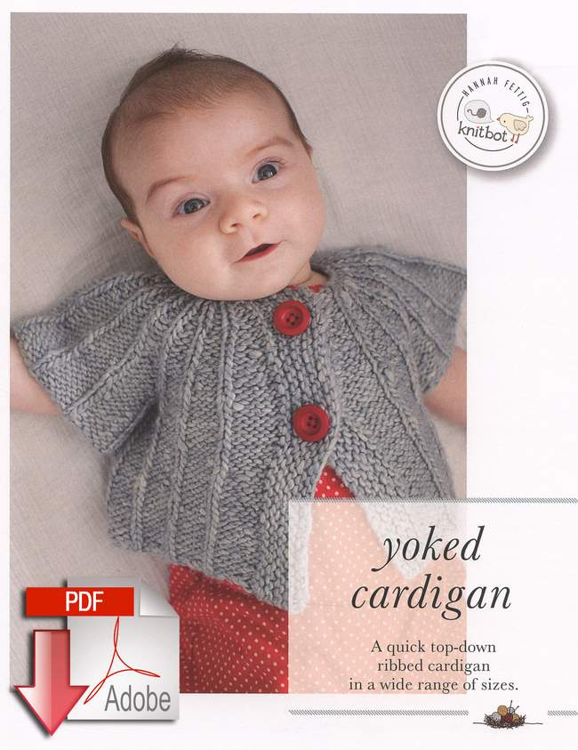 Knitbot Yoked Cardigan - Pattern download